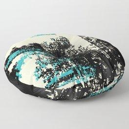 Grunge Paint Flaking Paint Dried Paint Peeling Paint Black Teal Beige Floor Pillow