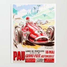 Grand Prix Pau, vintage poster, race poster Poster