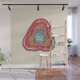 Growing - Glycine (soy) - plant cell embroidery Wall Mural