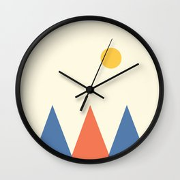 Mountain abstraction Wall Clock