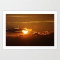 SunClouds Art Print