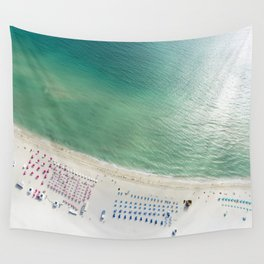 Helicopter View of Miami Beach Wall Tapestry