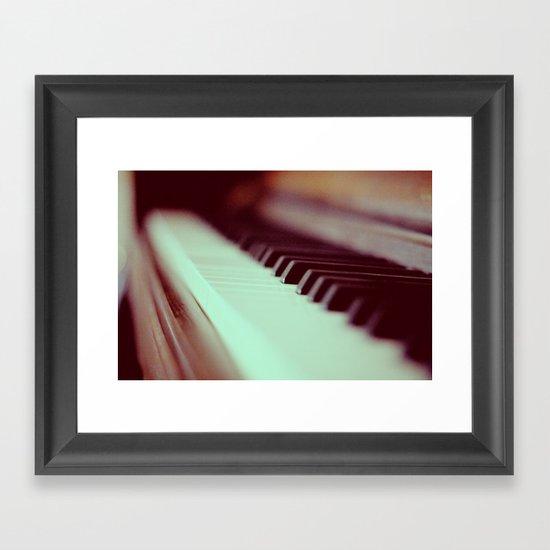 Piano Part 2 Framed Art Print