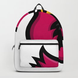 Cardinal Bird Head Mascot Backpack