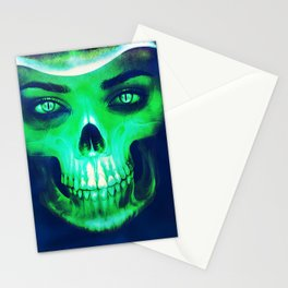 Skull Aglow Stationery Cards