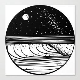 Starlit Wave Canvas Print