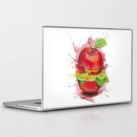 burger Laptop & iPad Skins featuring burger by Boho déco