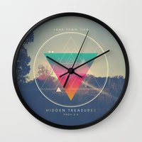 pocketfuel Wall Clocks featuring Seek Them Like Hidden Treasure - Proverbs 2:4 by Pocket Fuel