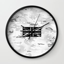 British Flag: Arctic Camouflage Wall Clock