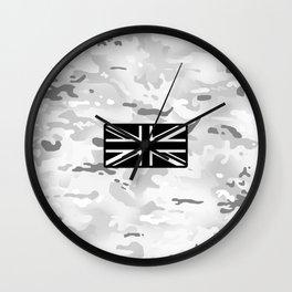 British Flag: Arctic Camouflage Wall Clock
