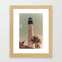 Vintage Lighthouse Framed Art Print