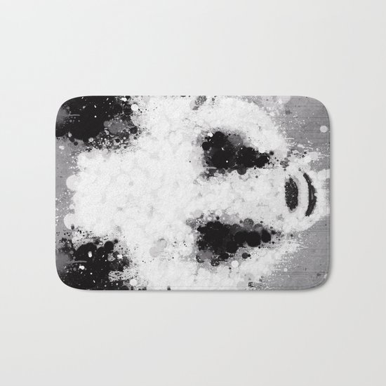 panda paint Bath Mat