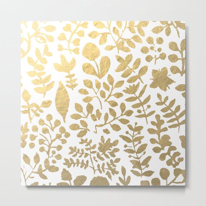 Botanica - gold Metal Print