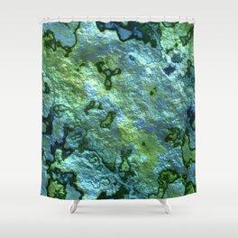 Turqoise Malachite Shower Curtain