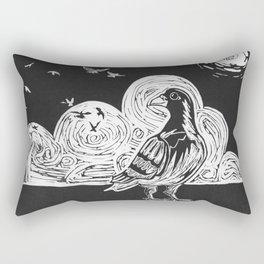 Proud Pigeon Rectangular Pillow