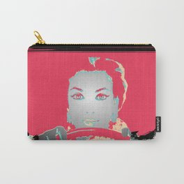 Female Driver Outlines Pop Art Carry-All Pouch