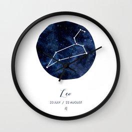 LEO Art Print, Horoscope Art Print, Leo Sign, Leo, Zodiac Art, Leo Symbol, Leo Dates, Horoscope Print, Leo Constellation, Leo Art Print, Zodiac, Zodiac Gift, Astrology, Astrologer's Gift Wall Clock