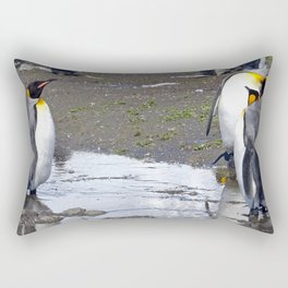 King Penguin Reflection Rectangular Pillow