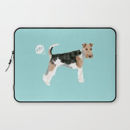 wire fox terrier funny farting dog breed pure breed pet gifts Laptop Sleeve