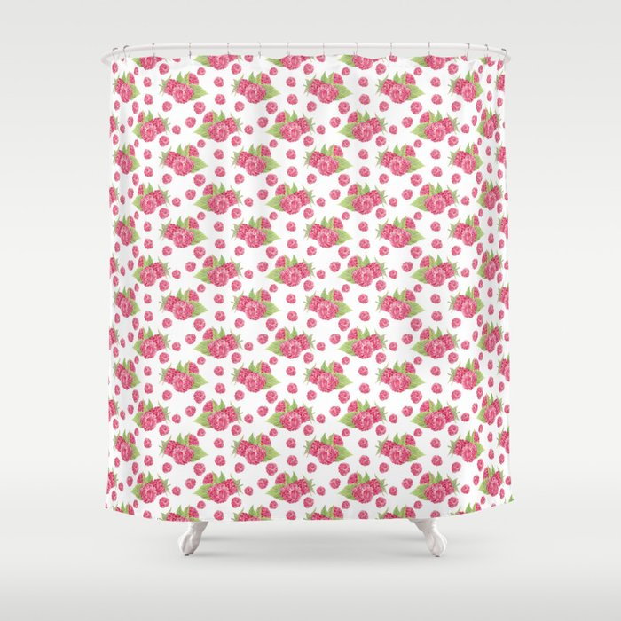 Pinky Raspberry Shower Curtain