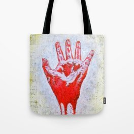 """""""The Red Hand"""" Tote Bag"""