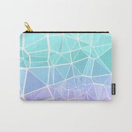 Cyan, Turquoise, and Purple Triangles Carry-All Pouch