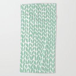 Hand Knit Zoom Mint Beach Towel