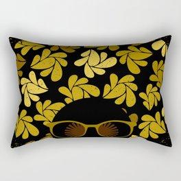 Afro Diva : Gold Rectangular Pillow