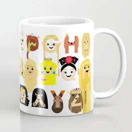 Princess Alphabet Coffee Mug