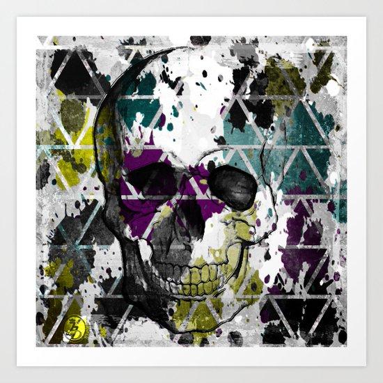 Abstract Skull Art Print