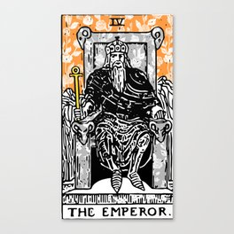 Floral Tarot Print - The Emperor Canvas Print