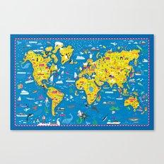 Big Fun World Map Canvas Print