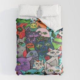 Crazy Cats Color  Comforters