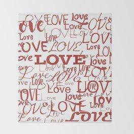 Love, love, love! Throw Blanket
