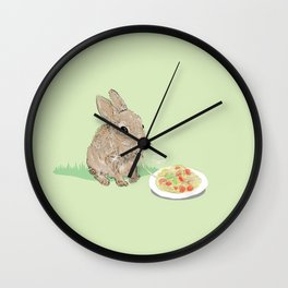 Sweet Rabbit Wall Clock