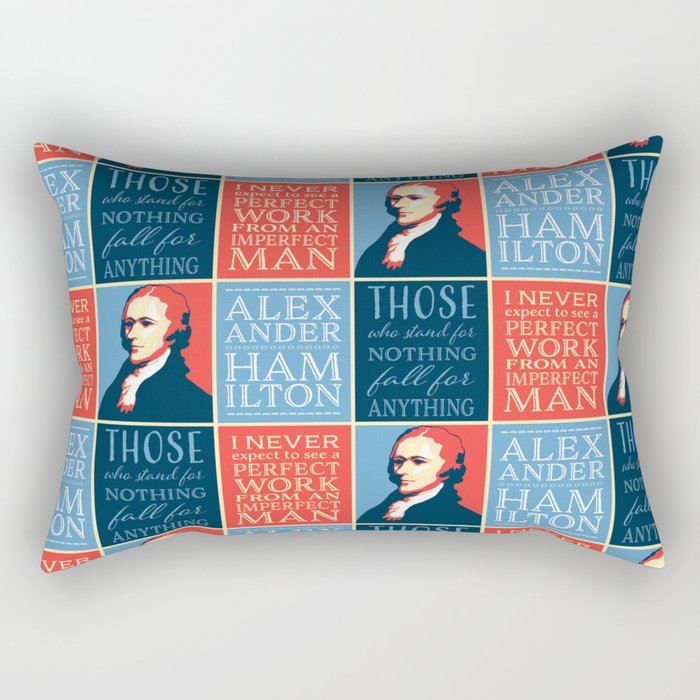Alexander Hamilton Quotes Rectangular Pillow