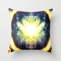 halo Throw Pillows featuring HALO by Chrisb Marquez