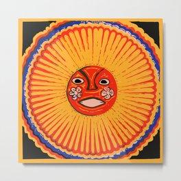 The sun Huichol art Metal Print