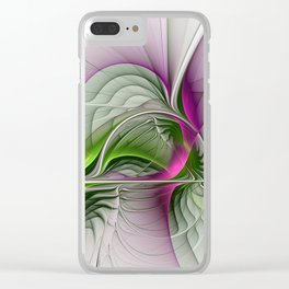 Wild Beauty, Abstract Fractal Art Clear iPhone Case
