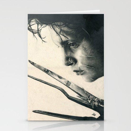 Edward Scissorhands ~ Johnny Depp Traditional Portrait Print Stationery Cards