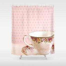 Teacup Heart Shower Curtain