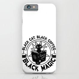 Black Cat Black Coffee Black Magic iPhone Case