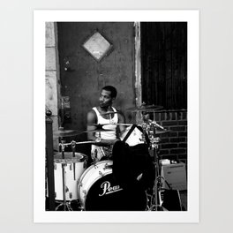 Street Drumming Art Print