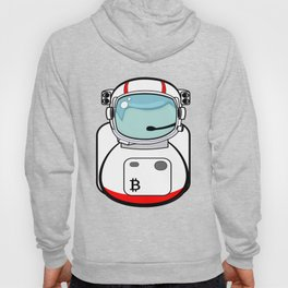 Astronaut Bitcoin Patch Hoody