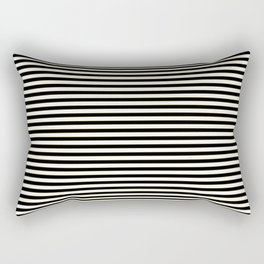 Thin alternating gold black and white art deco stripes Rectangular Pillow