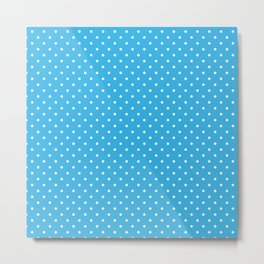 Sky blue polka dots pattern Metal Print