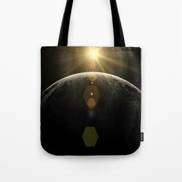 moon lens flare Tote Bag