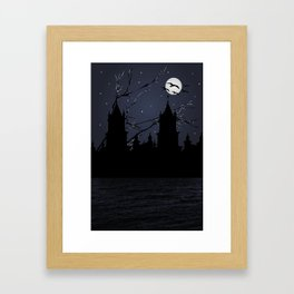 Dark Scene IllustrationPrint Framed Art Print