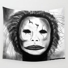 Broken Face Wall Tapestry