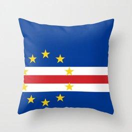 Cape Verde Flag Throw Pillow